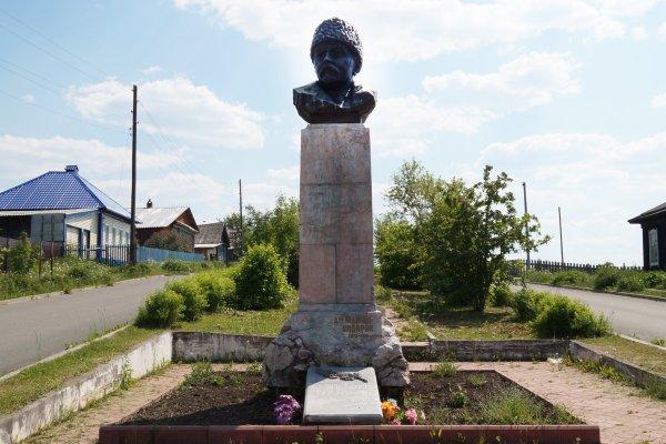 Памятник-бюст писателю Д.Н. Мамину-Сибиряку, поселок Висим